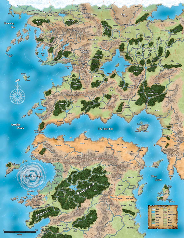 Nice Map Of Inner Sea Region (Avistan And Northern Garund): GolarionMap