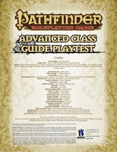 10 New Classes! Pathfinder RPG's Advanced Class Guide
